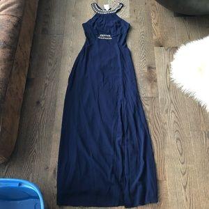 Topshop Navy Maxi Dress